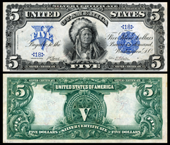Silver certificates such as this one were in use in the United States until 1968