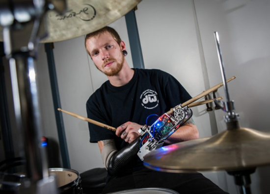Jason Barnes - the world's first human-cyborg drummer