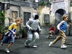 A hungry ASIMO closes down on its prey