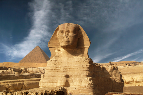 The Sphinx and great pyramids