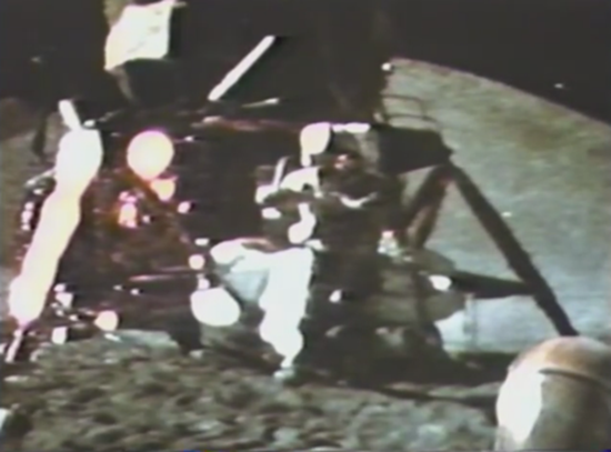 The hammer and feather experiment conducted on the Moon during the Apollo 15 mission