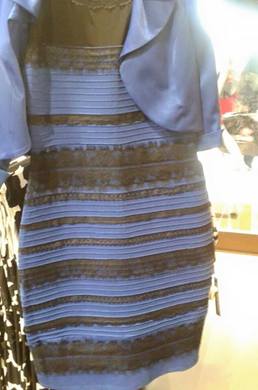 Optical illusion – the blue and black dress (or the white and gold dress?)