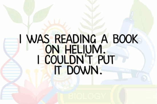 Book on helium couldn't put down