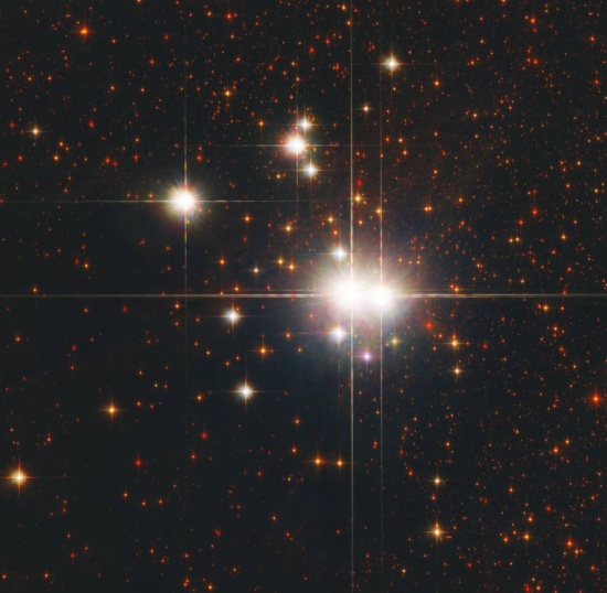 Open star cluster Caldwell 82 aka NGC 6193 and its 2 O-type stars